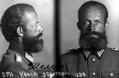 Фотография сотрудника Абвера капитана Эбергарда фон Шелера, захваченного в ходе операции «Арийцы»