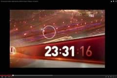 Уже через 4 секунды автомобиль отъезжает - на мосту видно тело Немцова