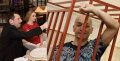 Александр Сытин с женой Анастасией в ресторане, а Александр Шестун - за решеткой