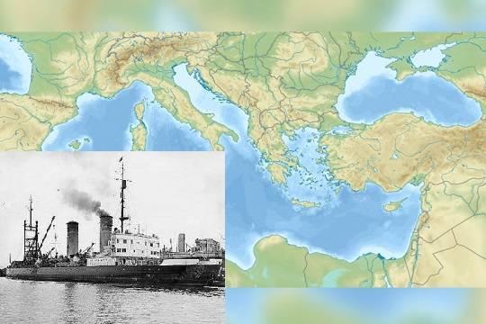 Итальянские торпедные катера и самолеты не смогли остановить безоружное судно