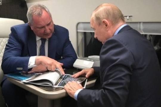 Рогозин отчитался Путину о ходе строительных работ на космодроме Восточный