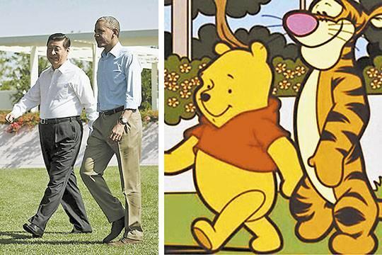 Российские политики больше похожи на героев анимационных лент, чем глава КНР на Винни Пуха