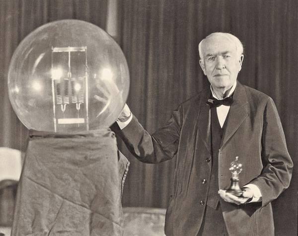 ... А электическую лампочку изобрел не американец Эдисон, а русский Яблочкин.