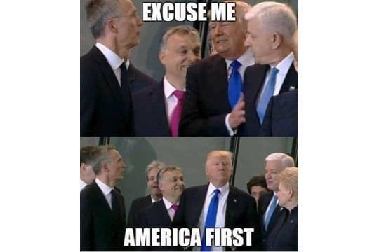Бесцеремонное поведение Дональда Трампа «зеркалит» отношение США к своим партнерам по НАТО и не только