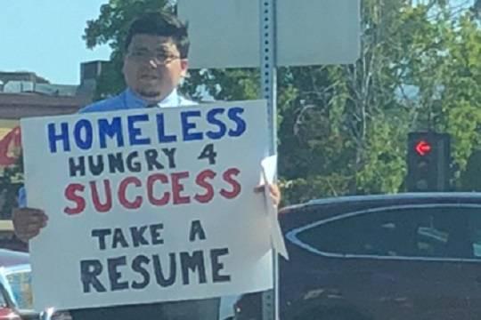 Американский бездомный нашел работу вкомпании мечты