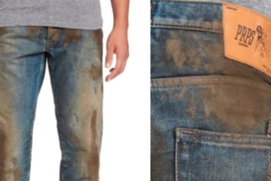 Интернет-пользователи высмеяли джинсы с ненастоящей грязью за 400 долларов