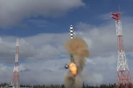 Минобороны испытало ракету «Сармат» (видео)