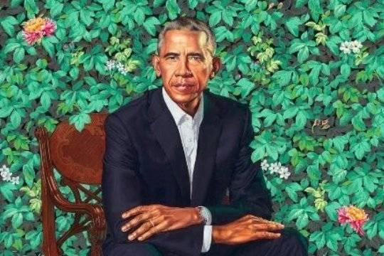 Официальный портрет Барака Обамы вызвал насмешки в интернете
