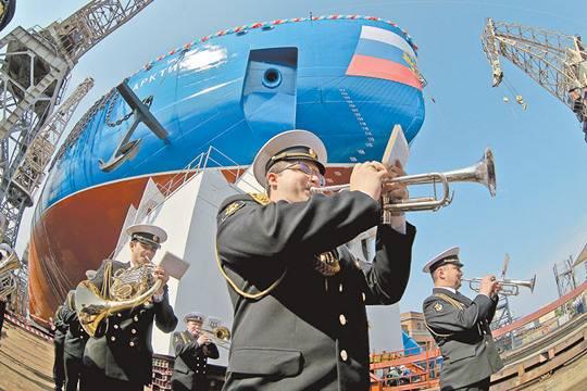 Спуск на воду ледокола «Арктика» преподносился как большое достижение.  фото: Руслан Шамуков/ТАСС