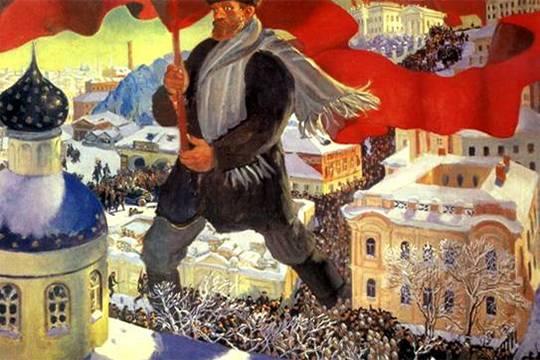 """Если через 100 лет после Октября в России и произойдет революция, то это будет революция технократов, считает политолог Валерий Соловей. Картина: Борис Кустодиев, """"Большевик"""""""