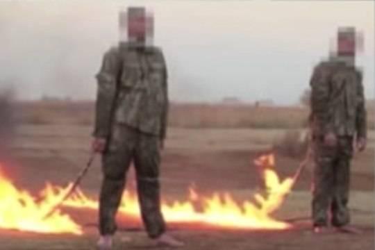 Исламские террористы изэкстремистской группировки живьем сожгли 2-х турецких военных