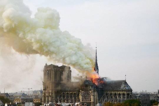 Пожар в соборе Нотр-Дам-де-Пари окончательно ликвидирован