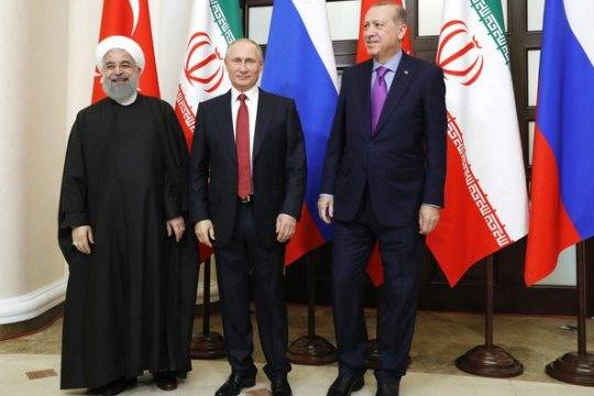 Путин, Эрдоган и Роухани в Сочи обсудили урегулирование ситуации в Сирии и борьбу с терроризмом