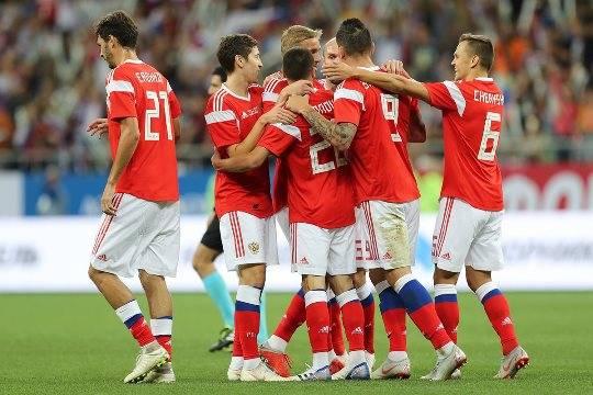 Русские футболисты обыграли чехов сосчётом 5:1