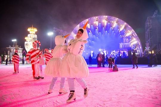 Турнир по сноуборду в Крылатском