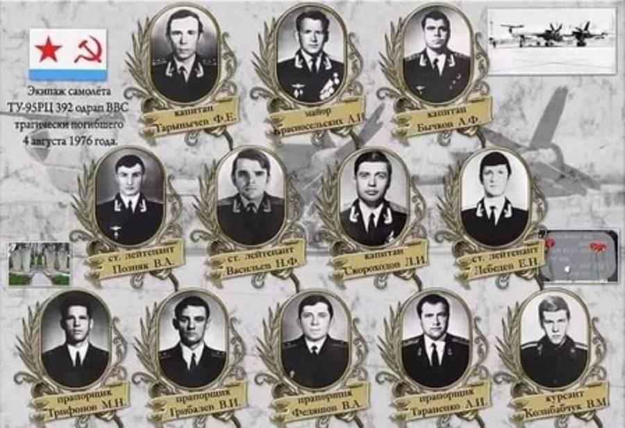 Экипаж погибшего в 1976 г. Ту-95РЦ