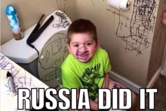 «Это русские!»— всоцсетях смеются над глупыми обвинениями США вадрес Москвы