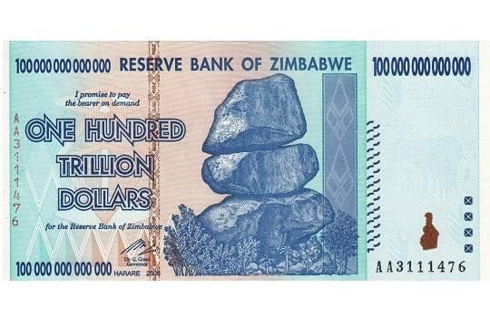Банк Зимбабве выпустил квазивалюту впервый раз с2009г