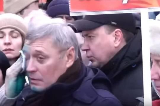Во время марша памяти Немцова Касьянову плеснули зеленкой в лицо