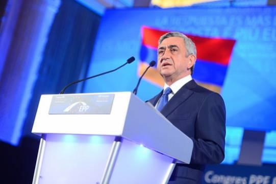 Экс-президент Армении Саргсян заявил об упущенной возможности признать Карабах