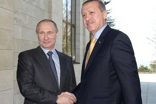 Эрдоган позвонил Путину, чтобы договориться овстрече