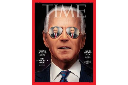 Журнал Time поместил на обложку Байдена с Путиным в глазах