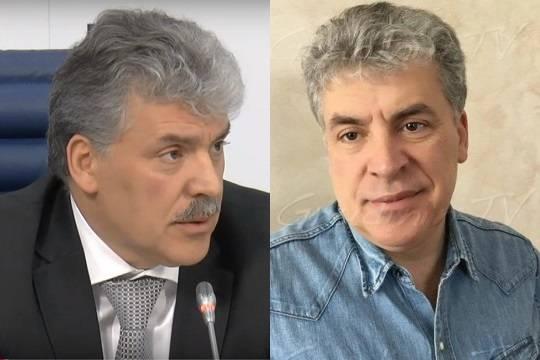 Зюганов уговаривал Грудинина не сбривать усы после выборов